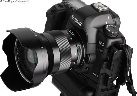 On Canon EOS 5D Mark II DSLR