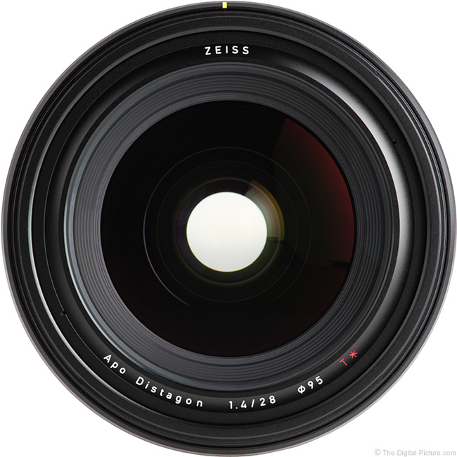 Zeiss 28mm f/1.4 Otus Lens Front View