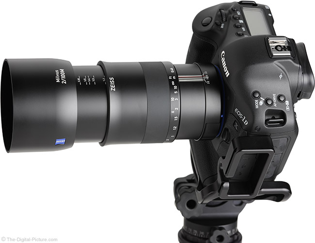 Zeiss Milvus 100mm f/2M Lens Extended View with Hood