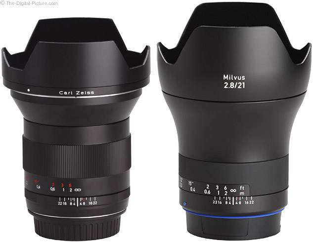 Zeiss Milvus 21mm Lens with Predecessor