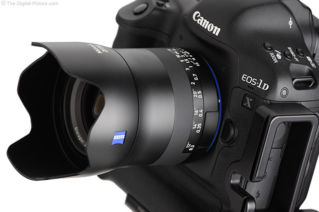Zeiss Milvus 35mm f/2M Lens Angle View with Hood