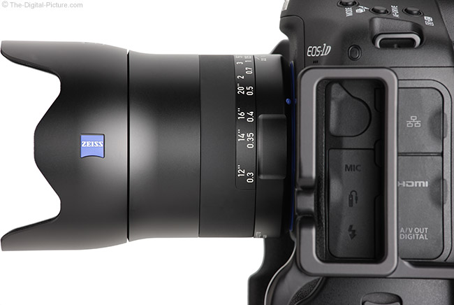 Zeiss Milvus 35mm f/2M Lens Side
