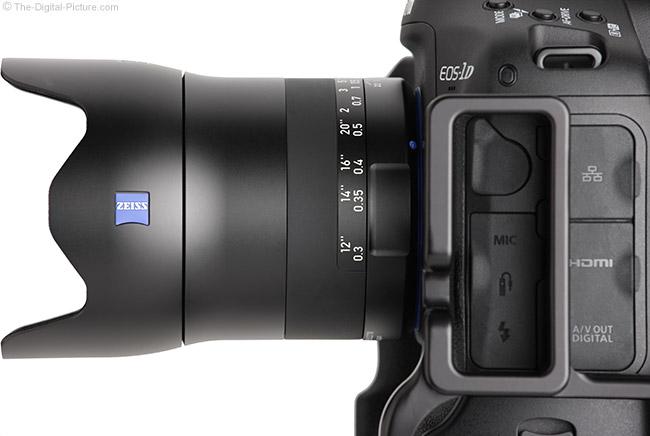 Zeiss Milvus 35mm f/2M Lens Side