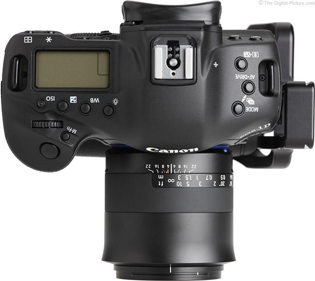 Zeiss Milvus 35mm f/2M Lens Top View