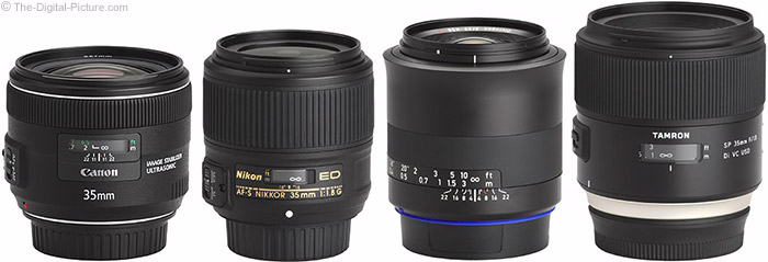 Zeiss Milvus 35mm f/2 Lens Compared to Similar Lenses