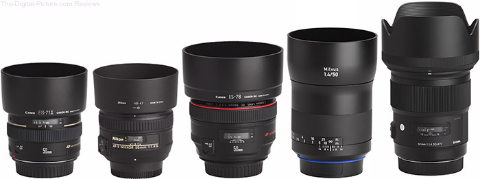 Zeiss Milvus 50mm f/1.4 Lens Compared to Similar Lenses with Hoods