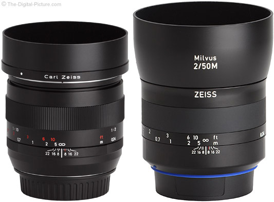 Zeiss Milvus 50mm f/2M Lens Compared to Classic