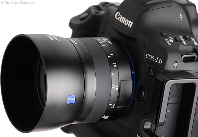 Zeiss Milvus 50mm f/2M Lens Angle View with Hood