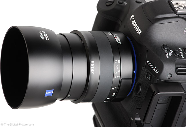 Zeiss Milvus 50mm f/2M Lens Extended View with Hood