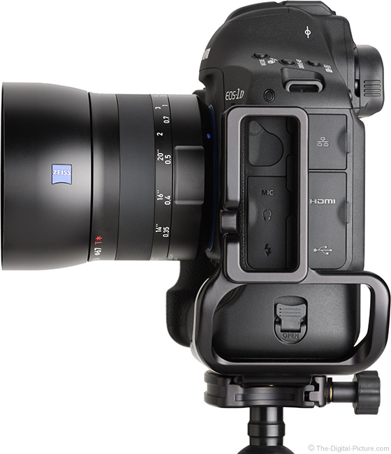 Zeiss Milvus 50mm f/2M Lens Side View with Hood