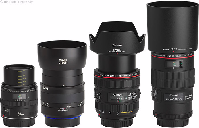 Zeiss 50mm f/2M Milvus Lens Compared to Similar Lenses with Hoods