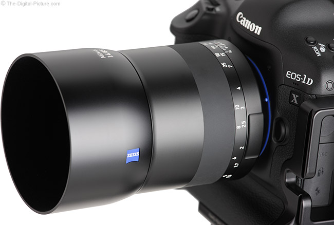 Zeiss Milvus 85mm f/1.4 Lens Angle View with Hood