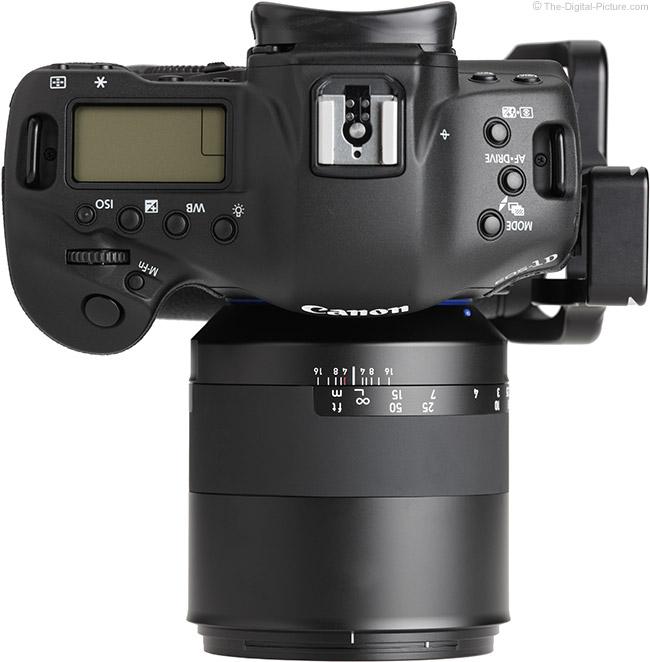 Zeiss Milvus 85mm f/1.4 Lens Top View
