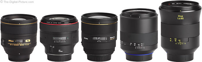 Zeiss Milvus 85mm f/1.4 Lens Compared to Similar Lenses