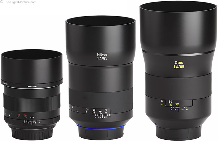 Zeiss Milvus 85mm f/1.4 Lens with Predecessor