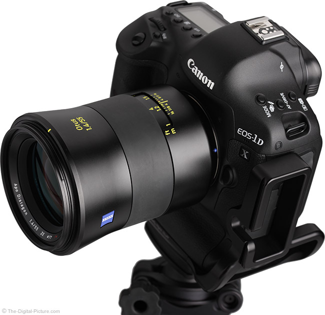 Zeiss Otus 55mm f/1.4 Distagon T* Lens On Camera