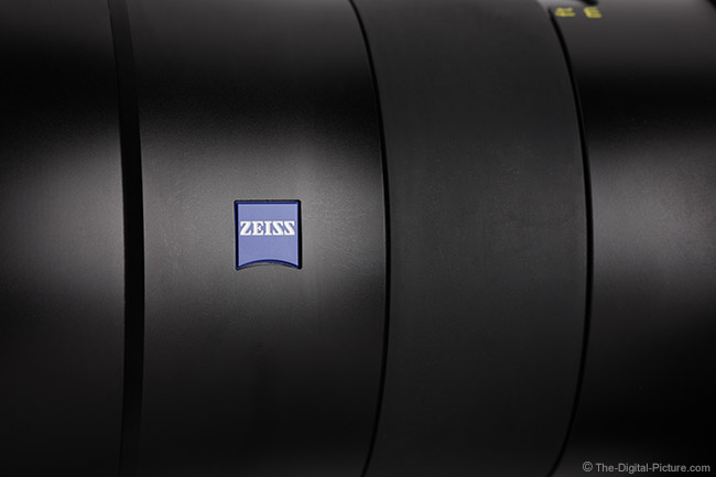 Zeiss Otus 55mm f/1.4 Distagon T* Lens Side View Close-Up