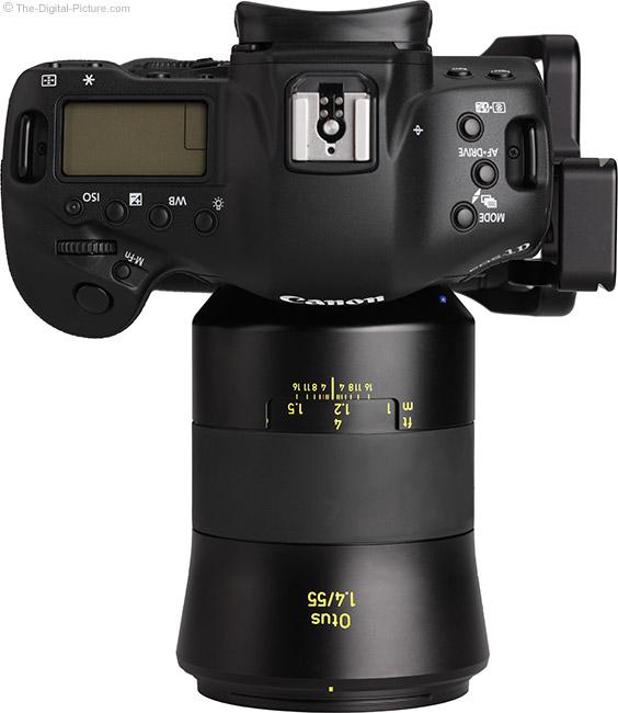 Zeiss Otus 55mm f/1.4 Distagon T* Lens Top View