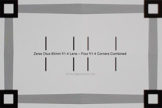 Zeiss Otus 85mm f/1.4 Lens Corner Image Quality