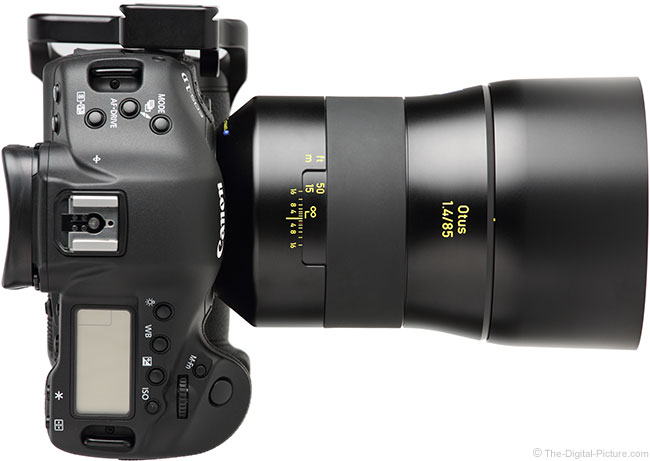 Zeiss Otus 85mm f/1.4 Lens Top View with Hood