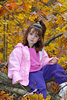 Girl in Fall Foliage Picture