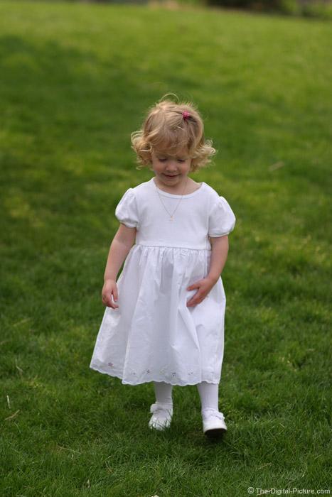 Little Girl Walking in Dress Picture
