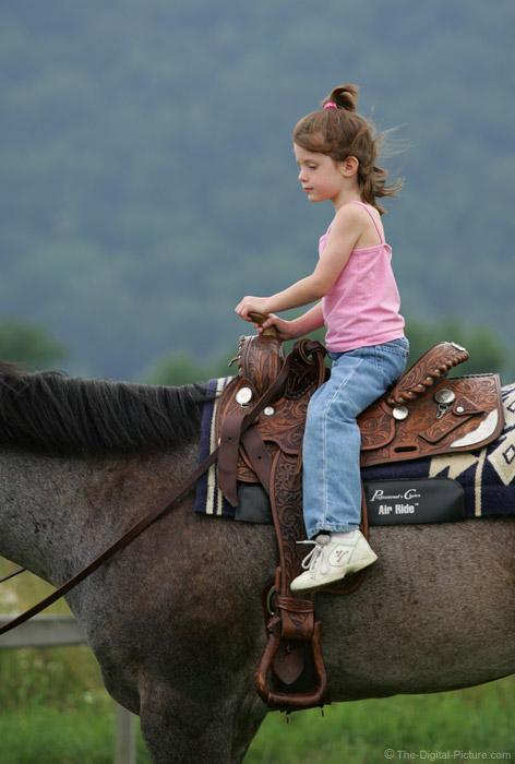 Little Girl Riding Horseback Picture