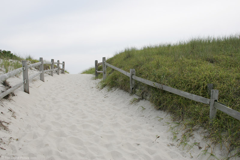 Path to Island Beach State Park