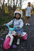 Girl on Big Wheel Picture