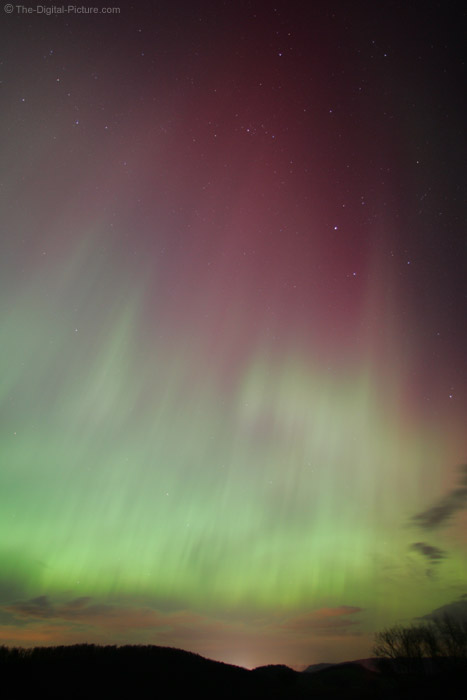 Fire Falling From The Sky Northern Lights Picture