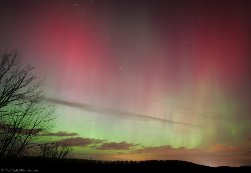 Clouds and Northern Lights Picture