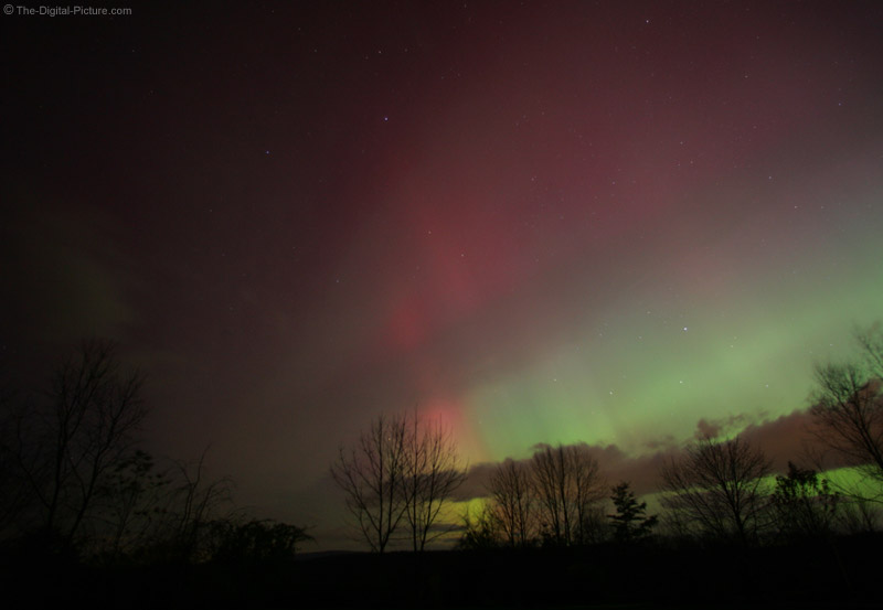 Rainbow at Night - Northern Lights Picture