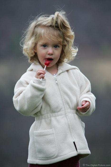 Enjoying a Lollipop Picture