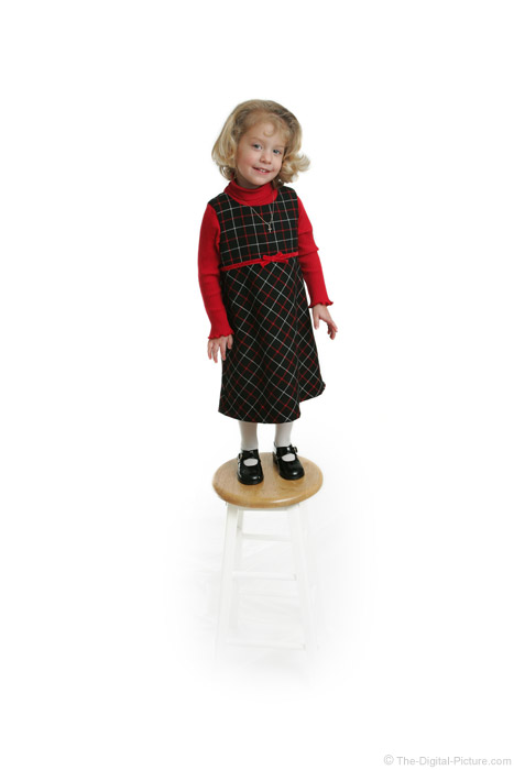 Little Girl Standing on Stool Picture