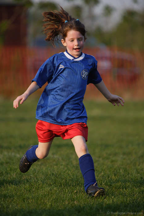 Soccer Player on the Run Picture