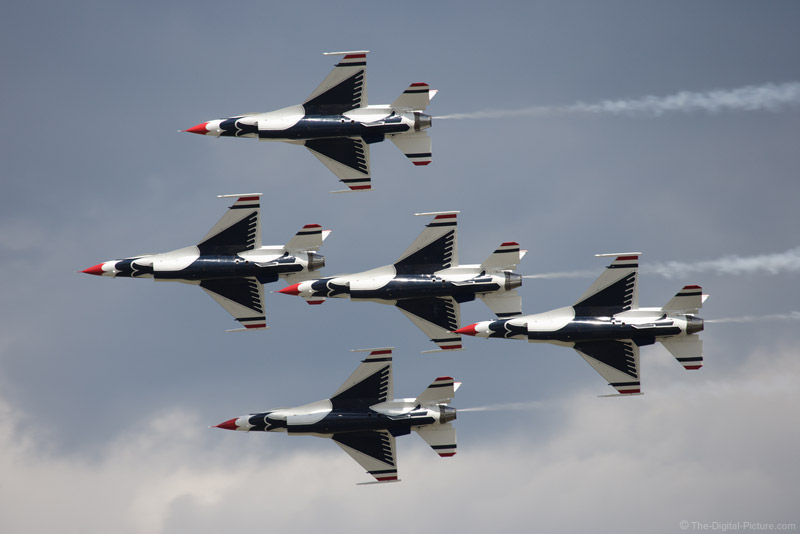 5-Plane Thunderbirds Formation Picture