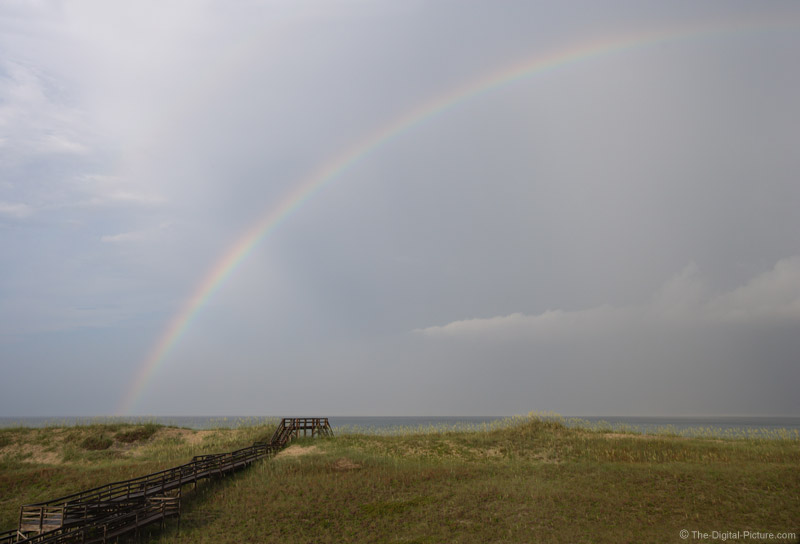 Rainbow Over the Dunes Picture
