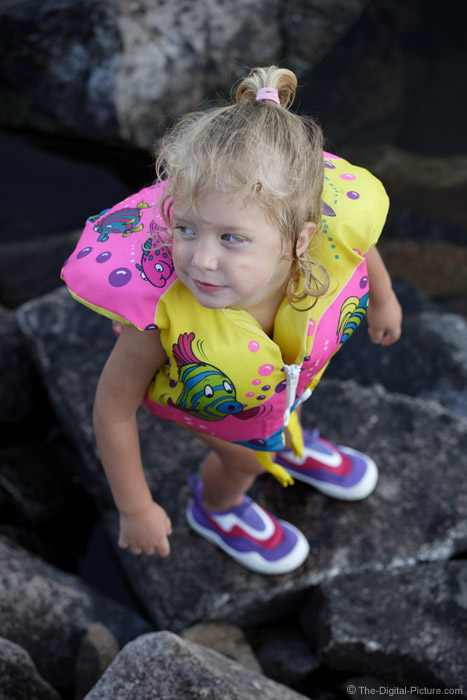 Cute Little Girl in Life Jacket Picture