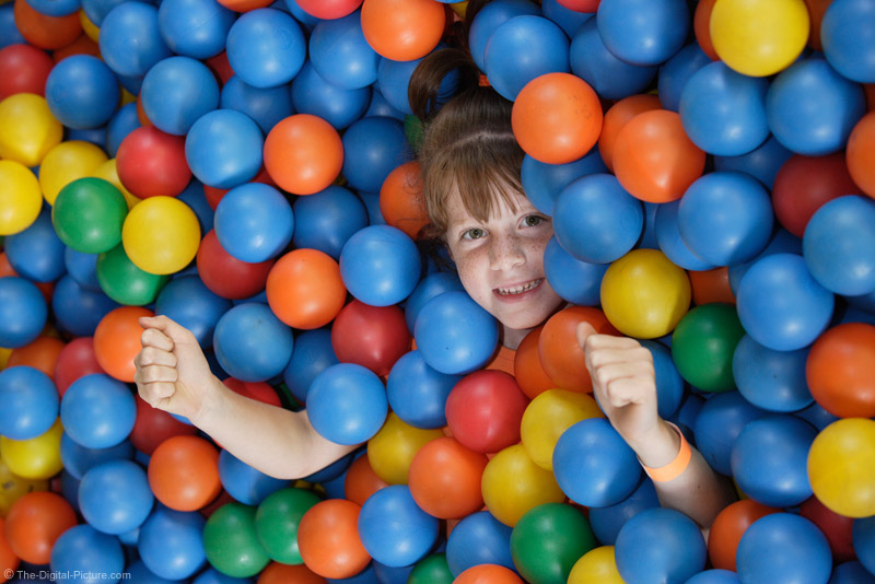 Girl in Ball Pit Picture