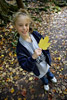 Girl With Leaf Picture