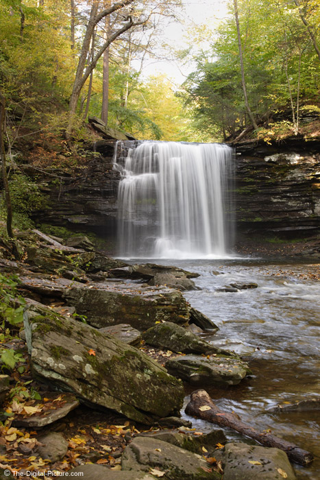 Large Waterfall in Ricketts Glen State Park