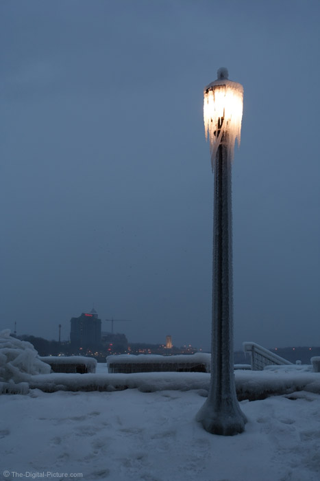 Ice-Covered Street Light
