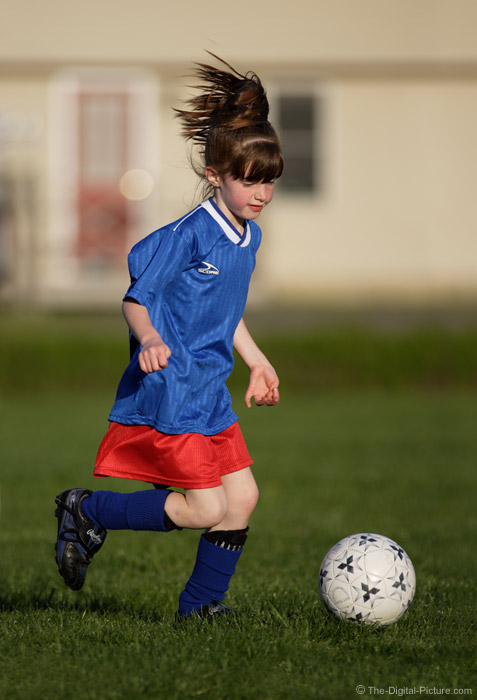Girl With Soccer Ball Picture