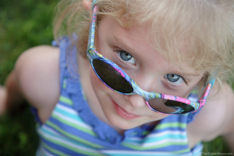 A Little Girl in Sunglasses Picture