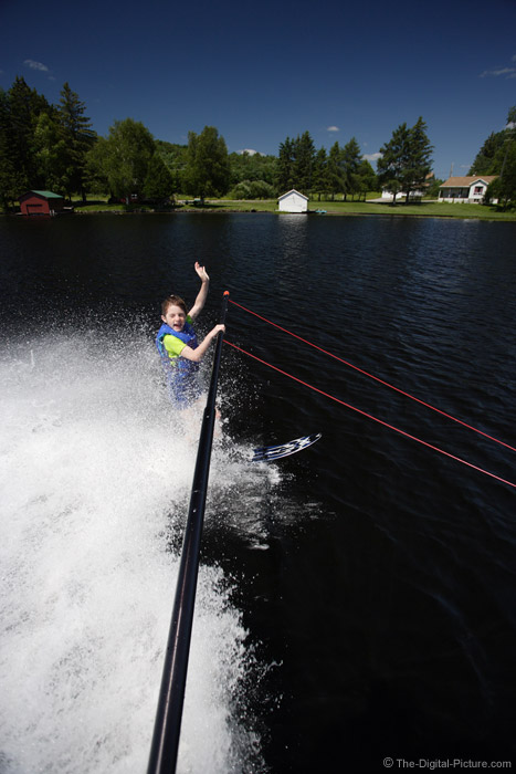 Slalom Waterskiing on the Boom