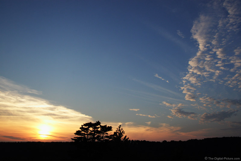 Sunset at 17mm