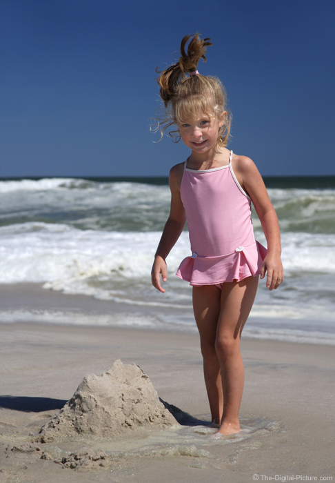 Girl on Beach Picture