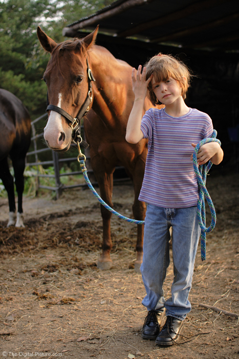 A Girl and Her Horse Picture