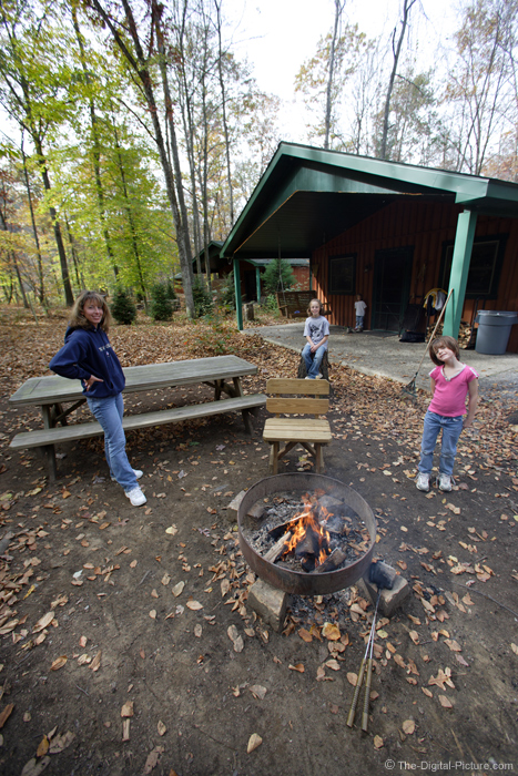 Family Camp Fire Picture