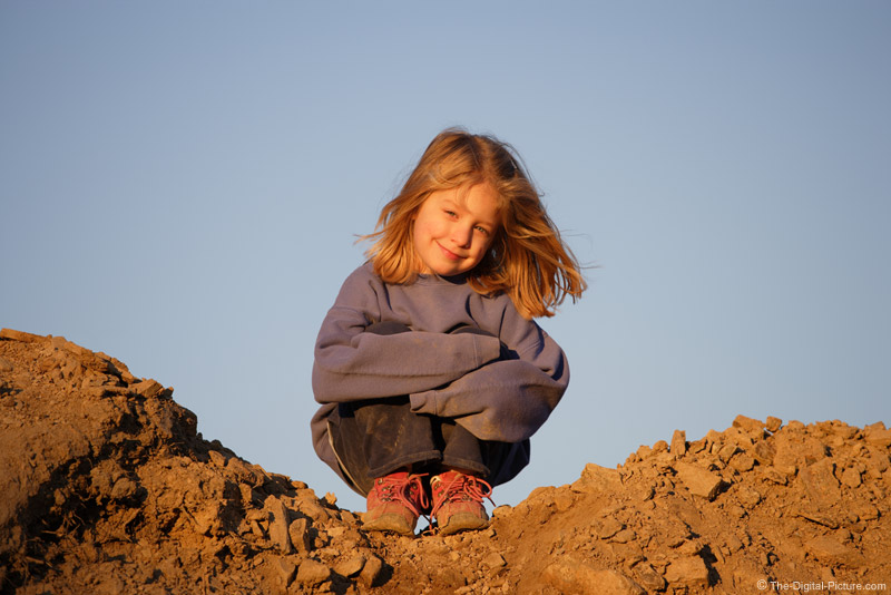 Girl on Mountaintop Picture